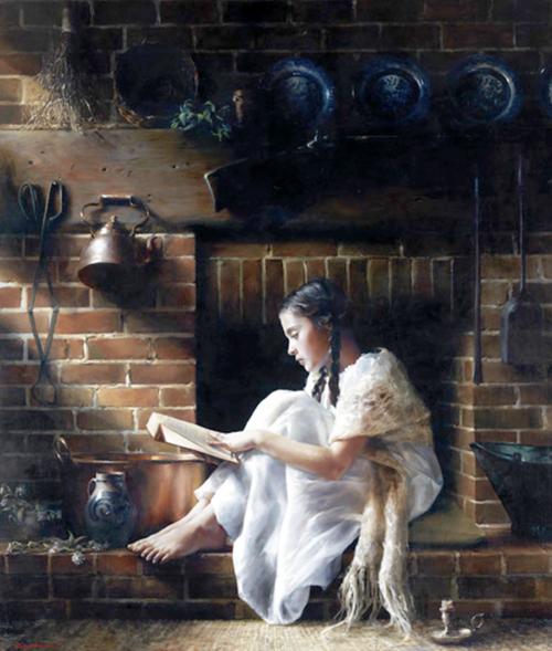 Mary Elizabeth Rollins beim Lesen