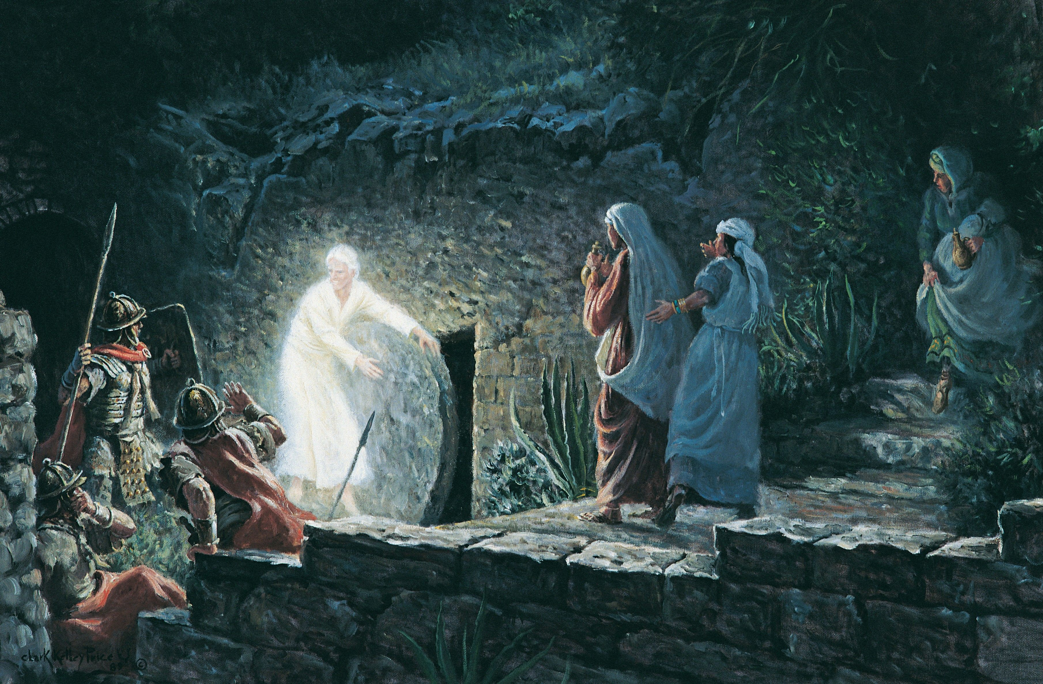 The Empty Tomb, by Clark Kelley Price; GAK 245; Matthew 27:57–66; 28:1–8; John 19:38–42