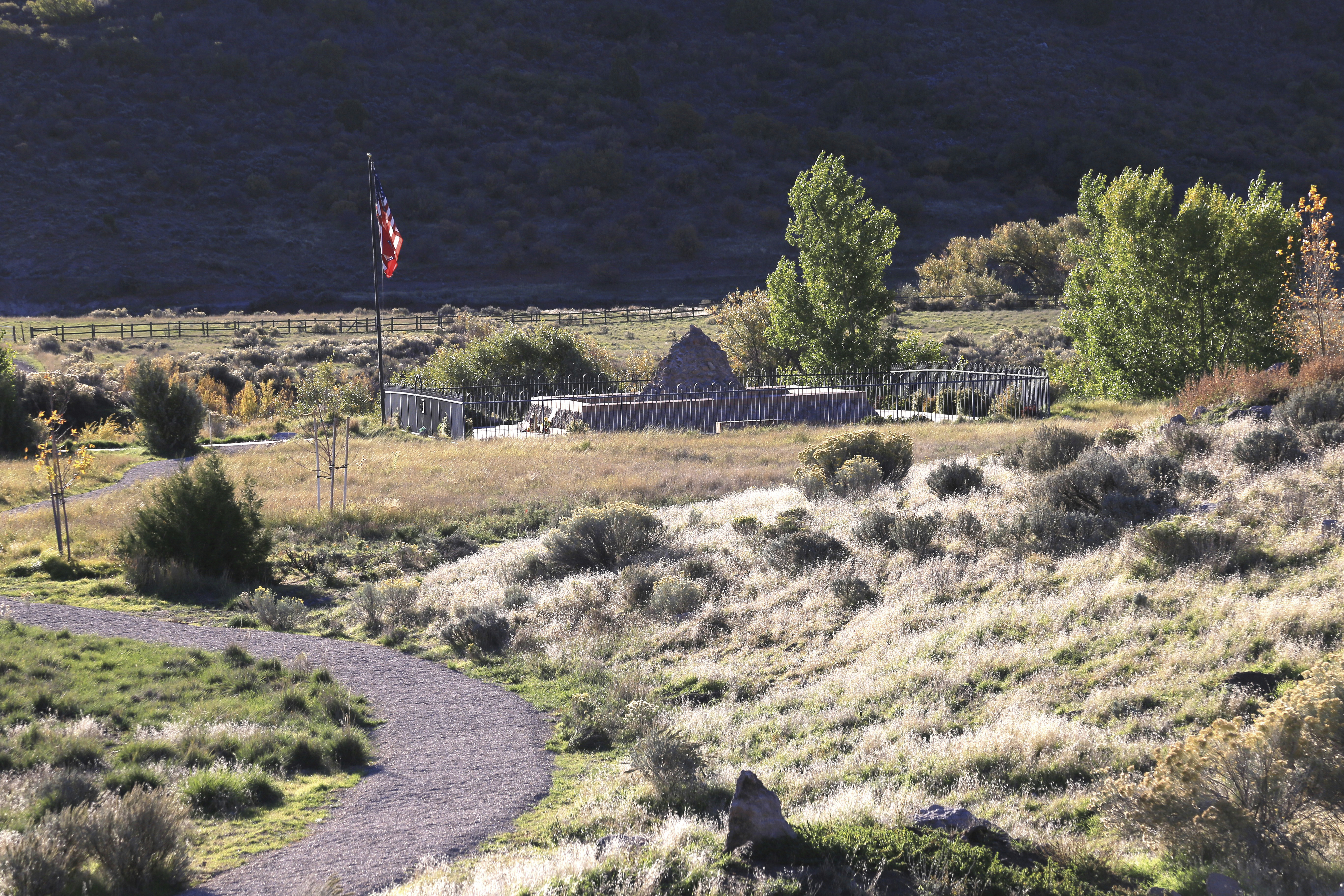 The Mountain Meadows Massacre site on a sunny day.