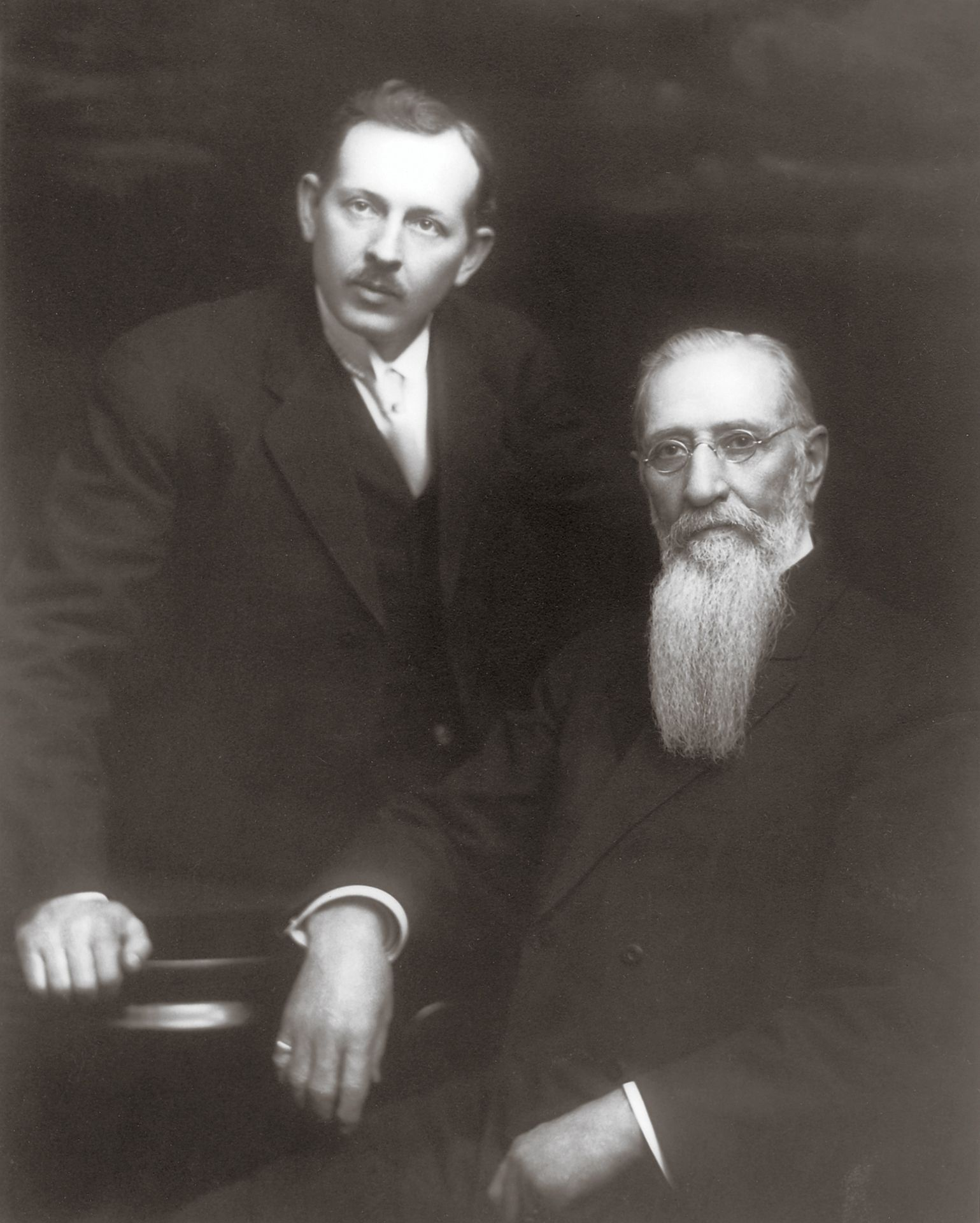 Joseph Fielding Smith standing beside his father, Joseph F. Smith, in May 1914. Teachings of Presidents of the Church: Joseph Fielding Smith (2013), 140