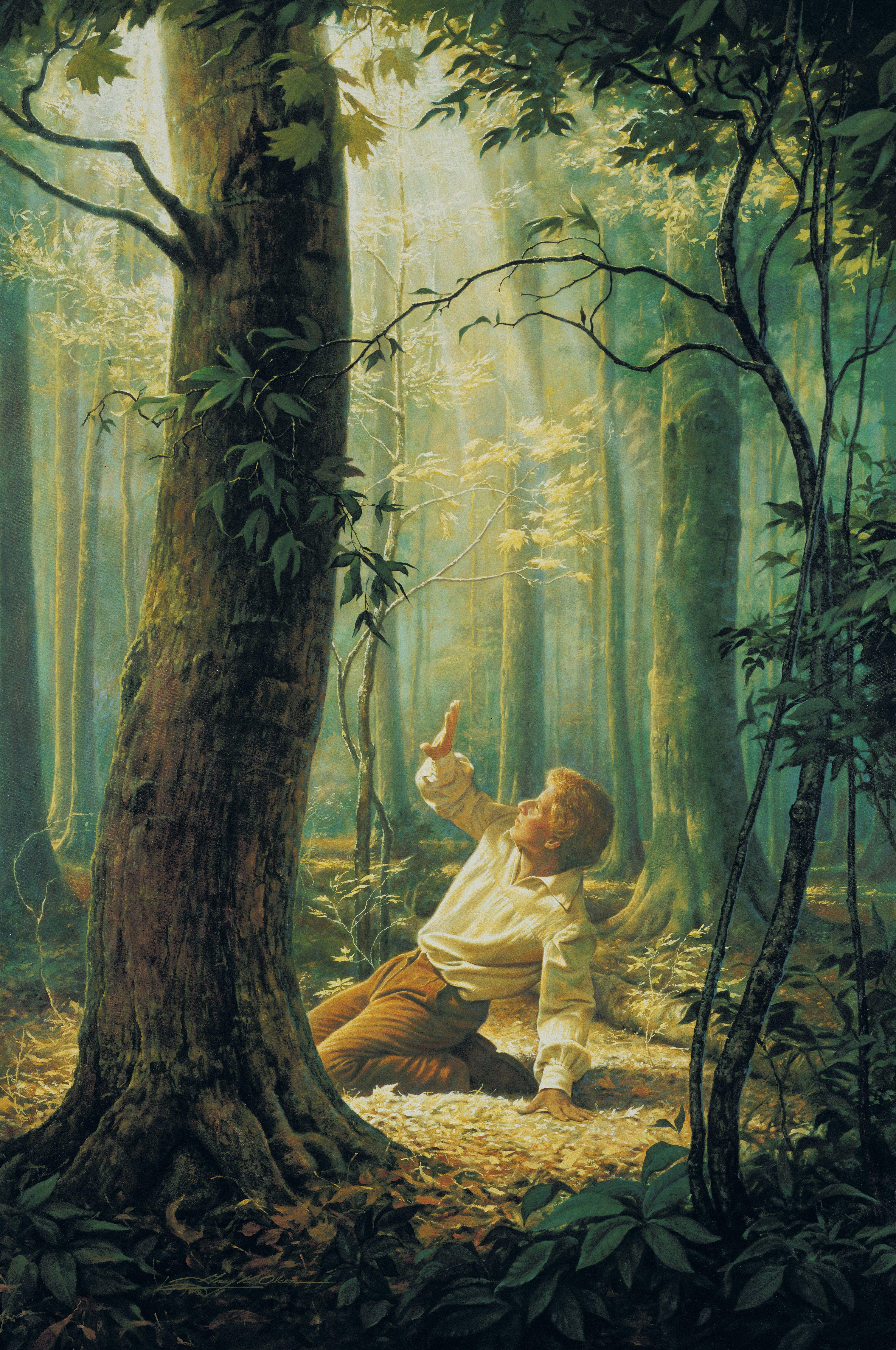 Joseph Smith's First Vision, by Greg K. Olsen.