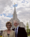 Tim and Charlene at the temple