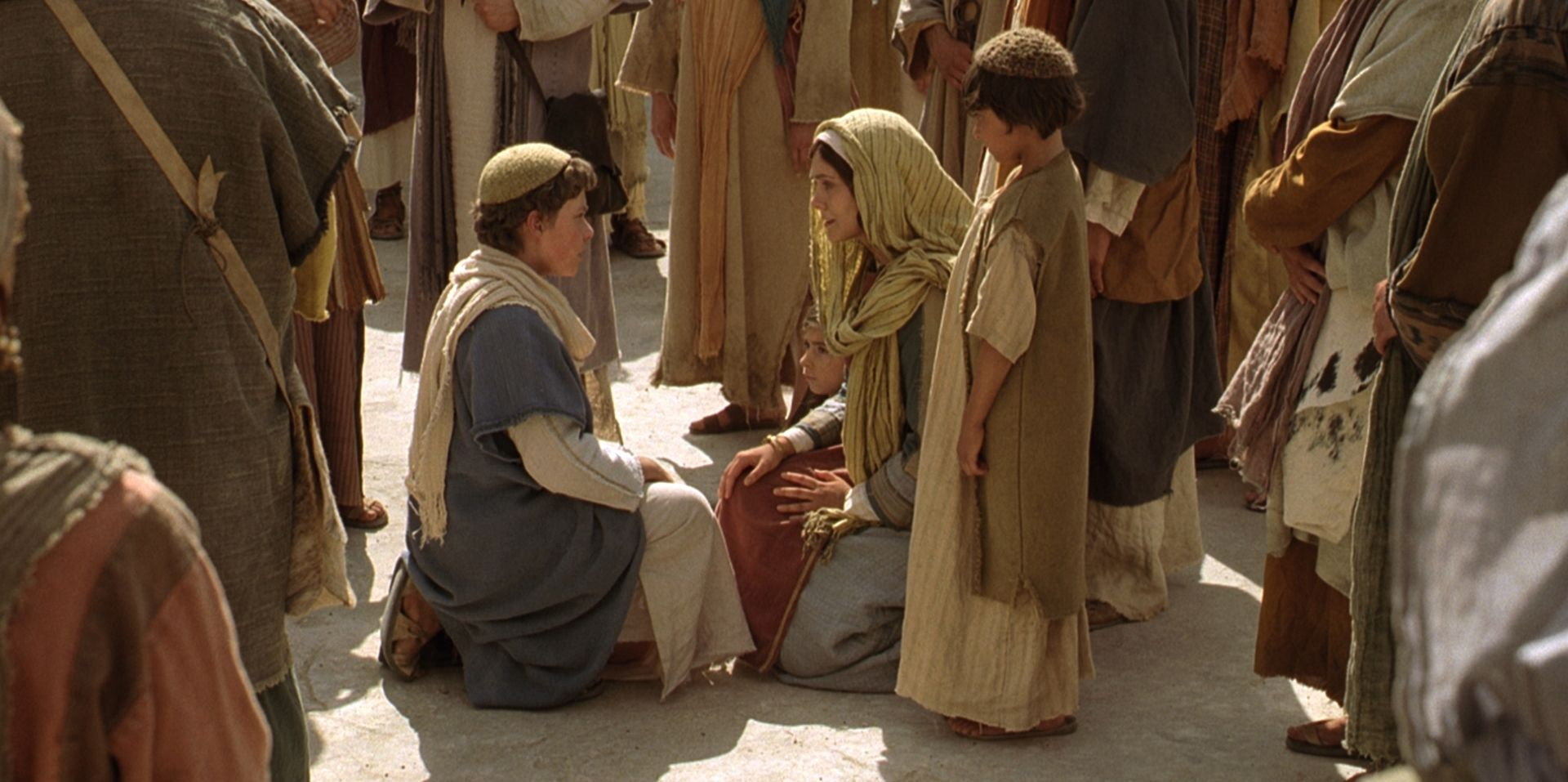 "Jesus says to His mother, Mary, ""Wist ye not that I must be about my Father's business?"""