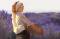 [Woman in lavender field]