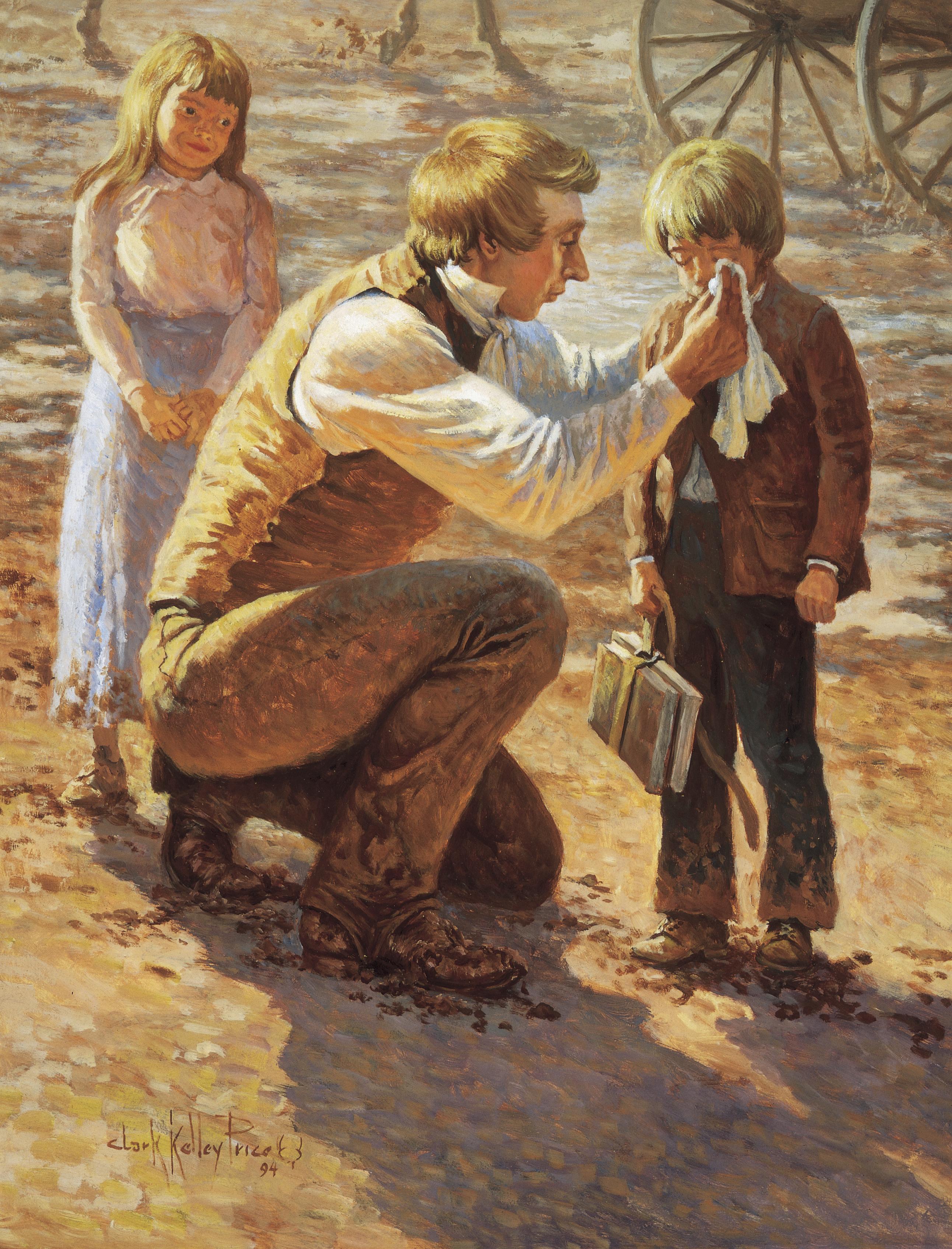 The Prophet Joseph Loved Children, by Clark Kelley Price; GAK 420; Primary manual 5-34; 3 Nephi 9:22; Moroni 8:17