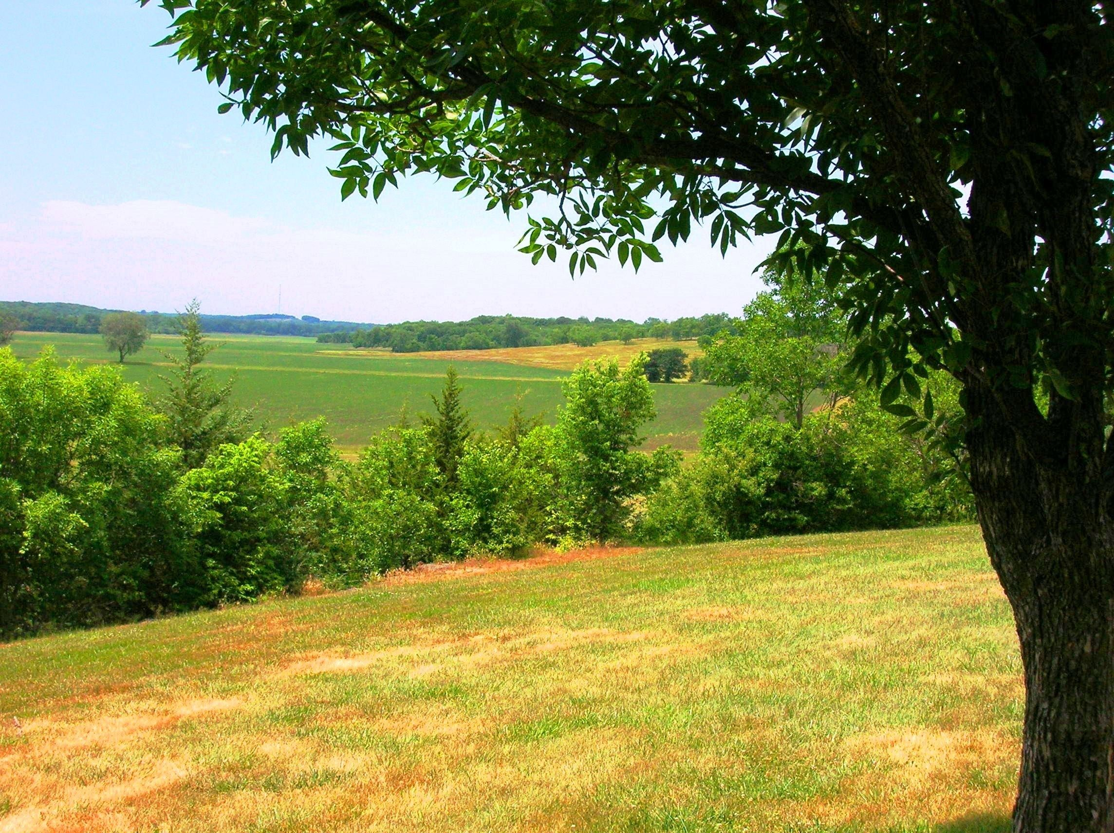 Looking out over Adam-ondi-Ahman in Missouri.