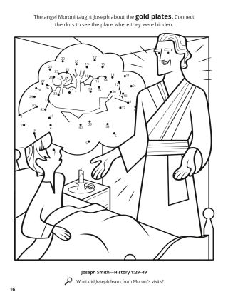 Angel Moroni Appeared to Joseph coloring page