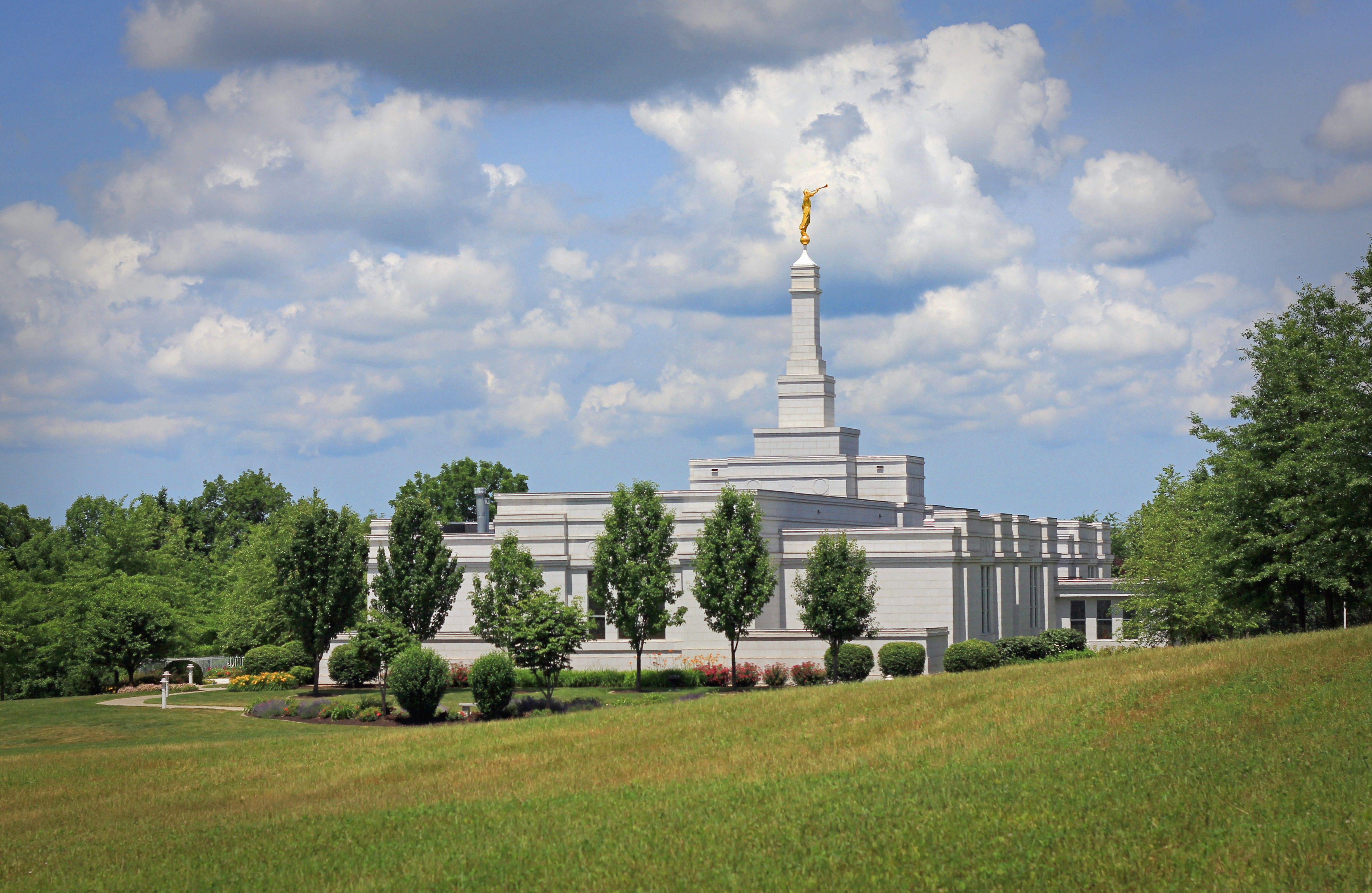 The Palmyra New York Temple, including scenery.