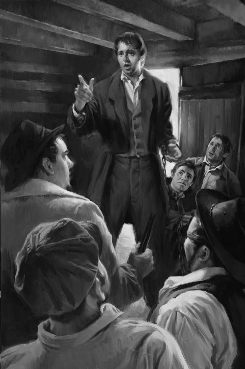 Joseph Smith Rebuking the Guards in Richmond Jail