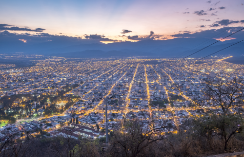 Argentina Salta Town by Night