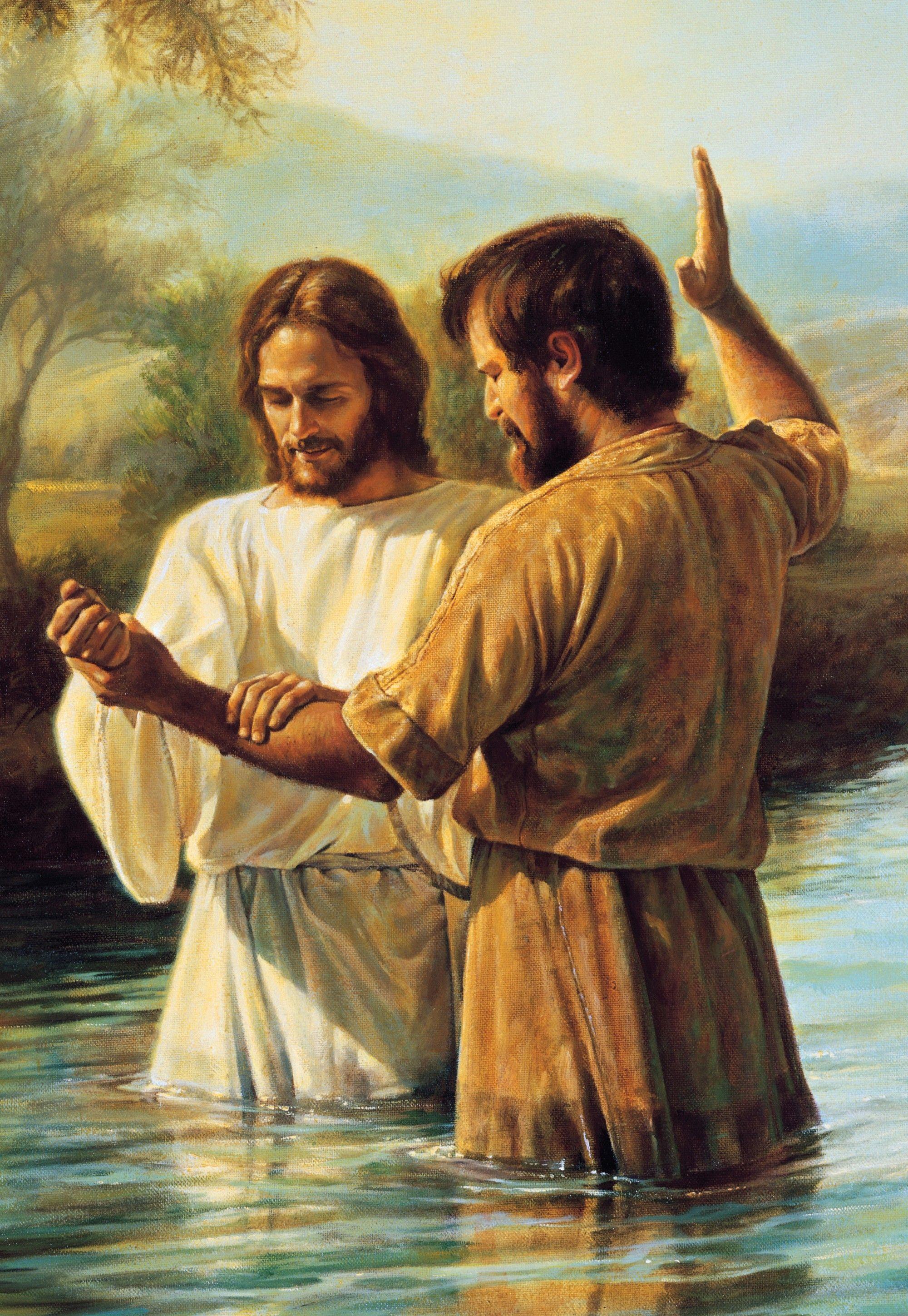 John the Baptist Baptizing Jesus, by Greg K. Olsen