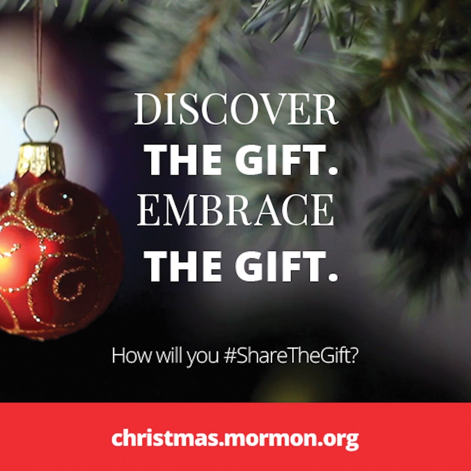 Discover the gift. Embrace the gift. How will you #ShareTheGift? christmas.mormon.org