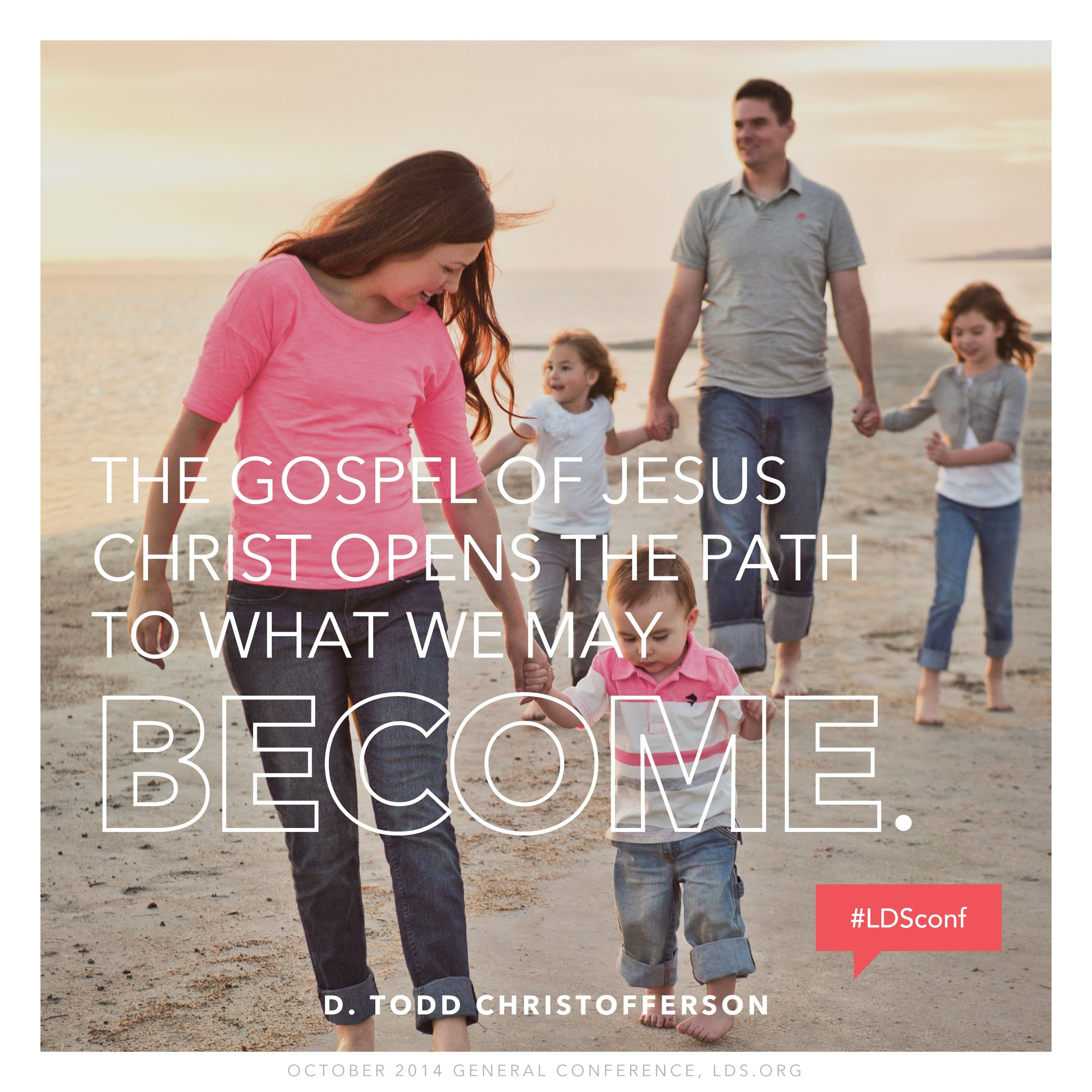 """""""The gospel of Jesus Christ opens the path to what we may become.""""—Elder D. Todd Christofferson, """"Free Forever, to Act for Themselves"""""""