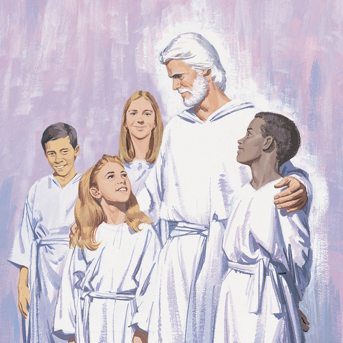 children in heaven with Heavenly Father