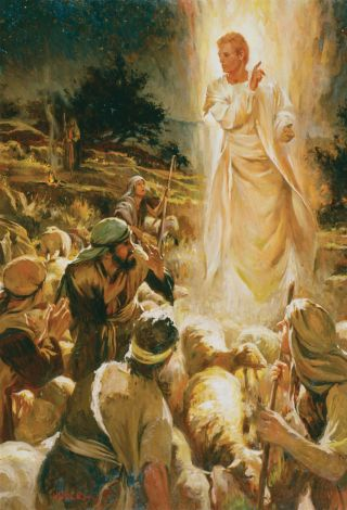 The Angel Appears to the Shepherds, by Walter Rane
