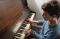 Ukiah, California: Playing piano