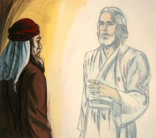Jesus speaking with Moses