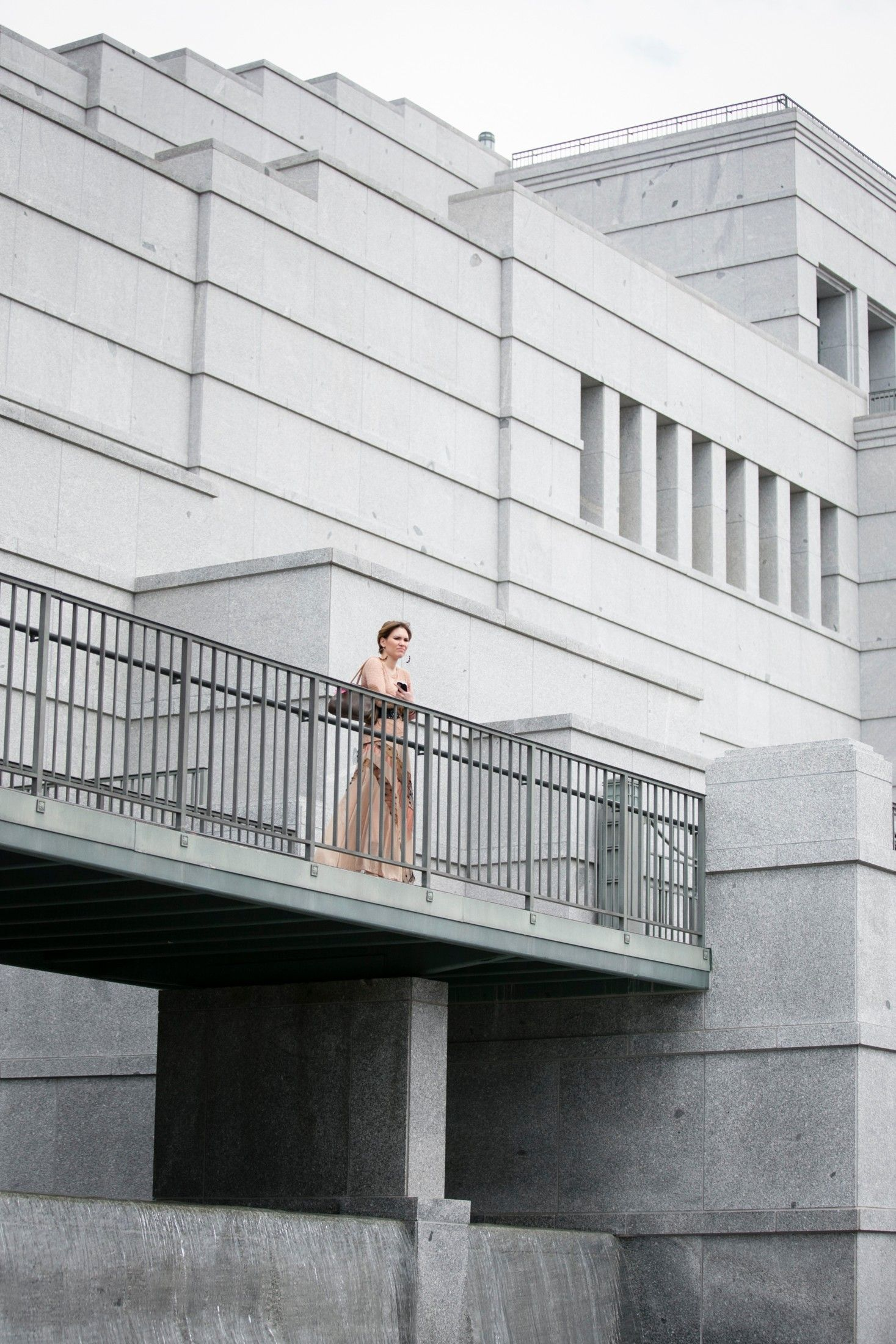A woman standing on the Conference Center balcony. © undefined ipCode 1.