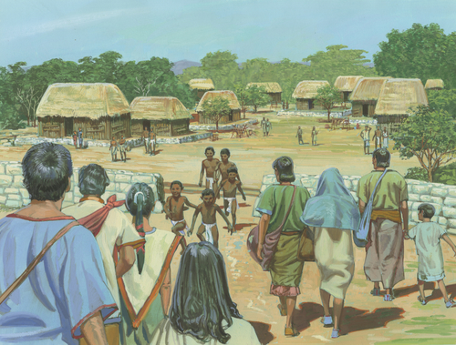 Nephites walking