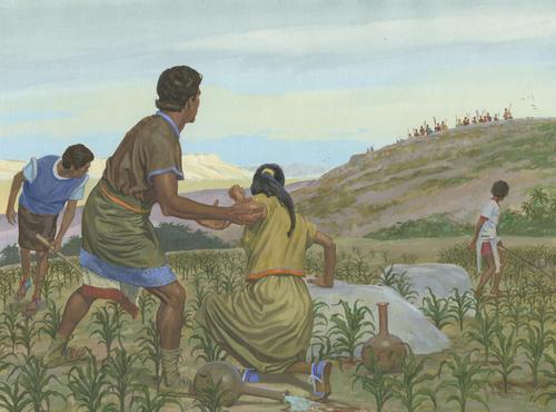 Lamanites attacking Nephites