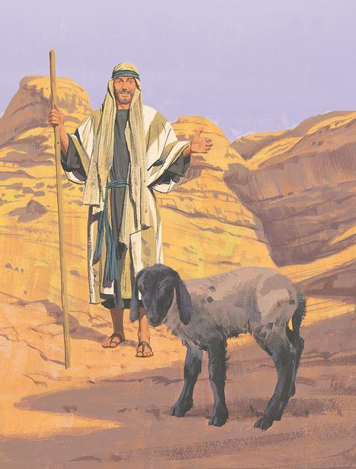 shepherd finding lost sheep
