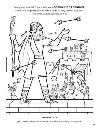 Samuel the Lamanite coloring page