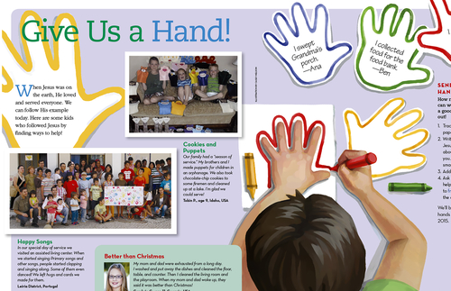 Children are invited to serve and be the Lord's hands