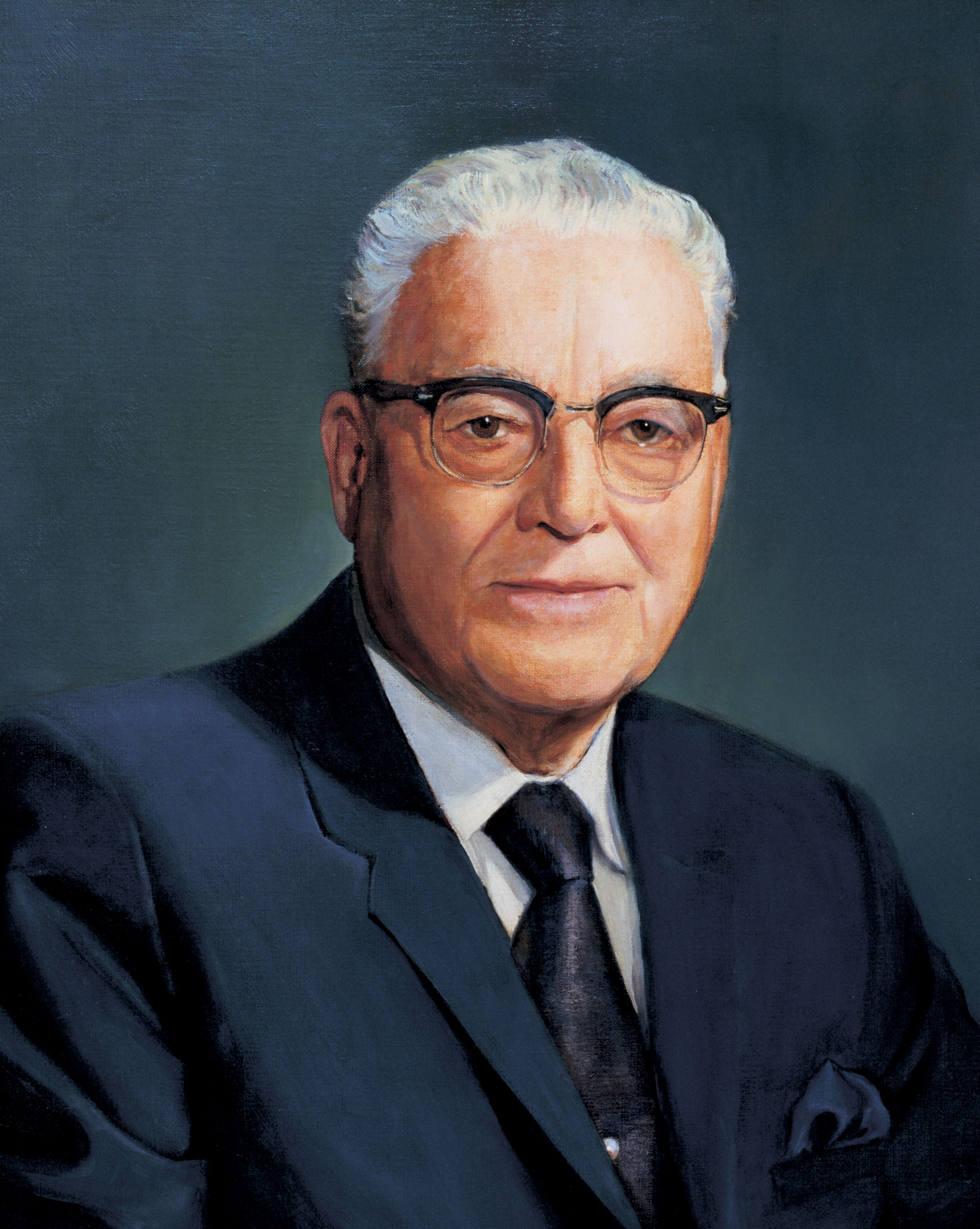 Harold B. Lee, by David Ahrnsbrak; GAK 516; Our Heritage, 123–24. President Harold B. Lee served as the 11th President of the Church from 1972 to 1973.