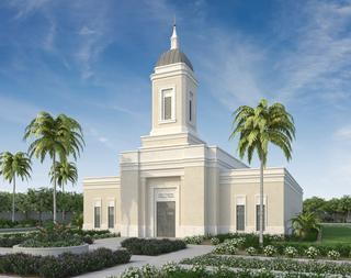 A rendering of the temple in Yigo, Guam.