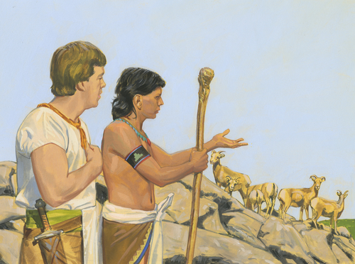 Ammon guarding flocks