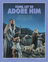 """A painting of three shepherds looking toward the night sky, paired with the words """"Come, Let Us Adore Him."""""""