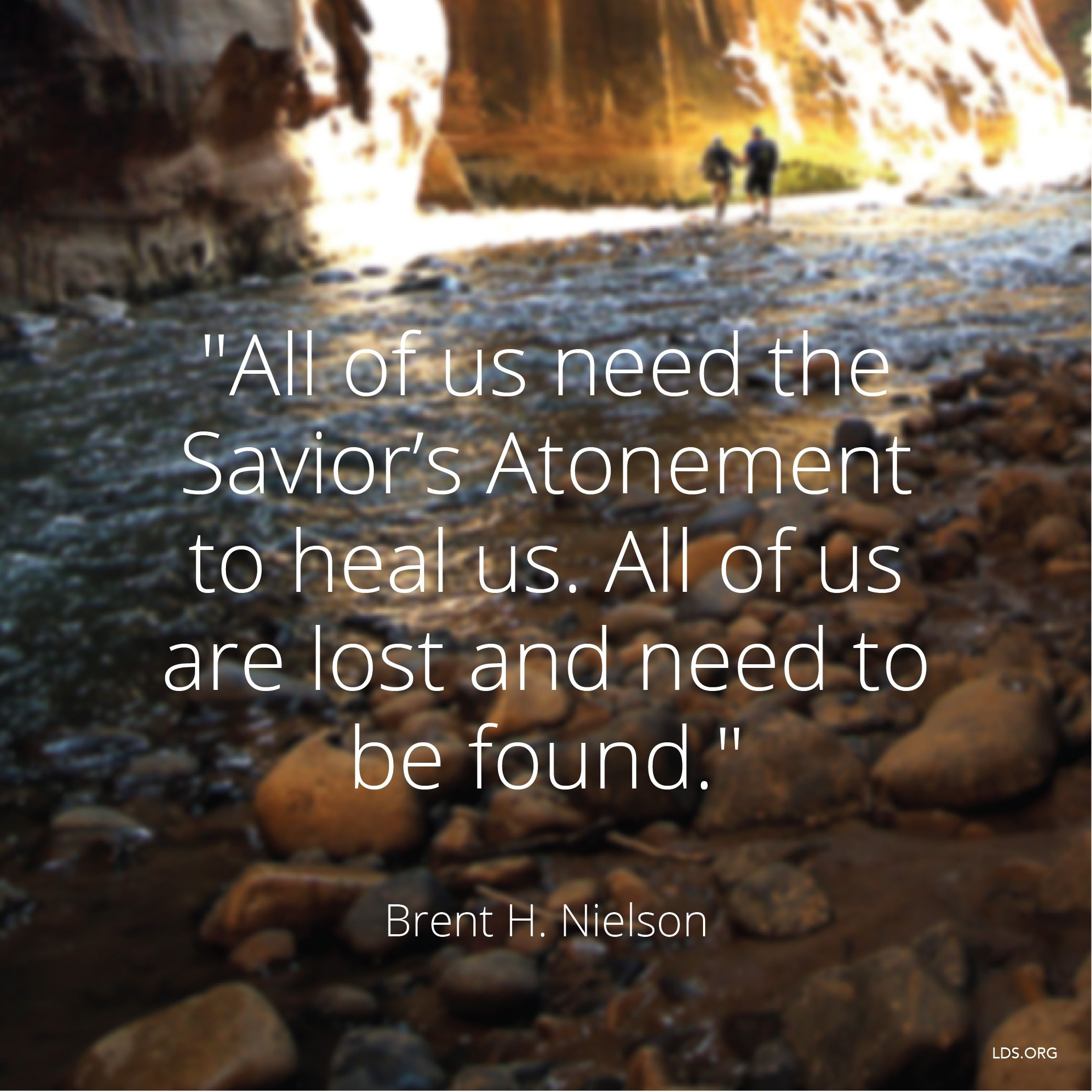 """""""All of us need the Savior's Atonement to heal us. All of us are lost and need to be found.""""—Elder Brent H. Nielson, """"Waiting for the Prodigal"""" © See Individual Images ipCode 1."""