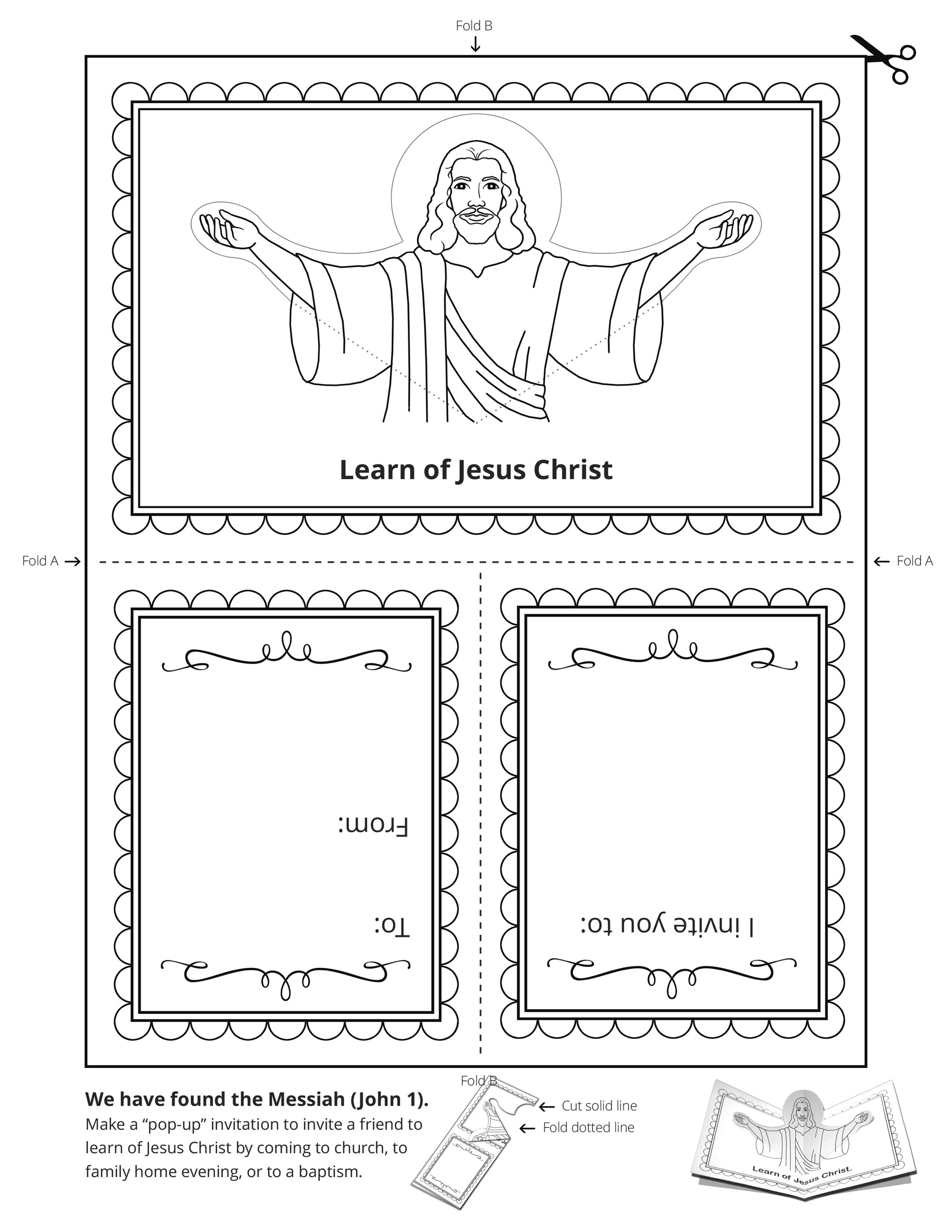 An illustration of Christ.