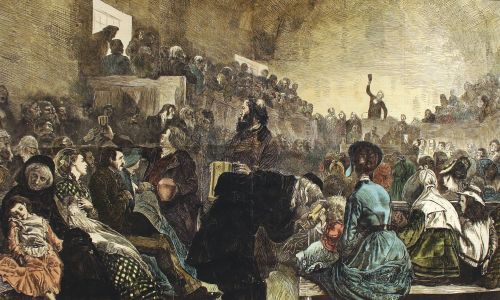 Sacrament in the Mormon Tabernacle.