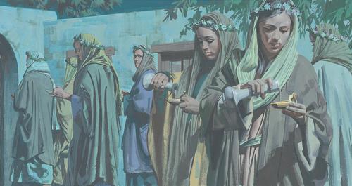 women refilling oil lamps