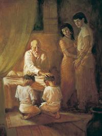 Israel Blesses Ephraim with Birthright