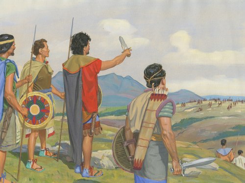 Nephites watching Lamanites