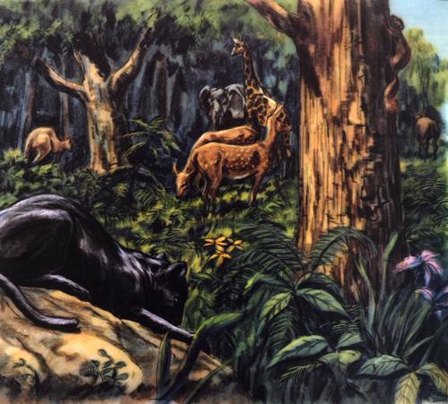 animals in Garden of Eden
