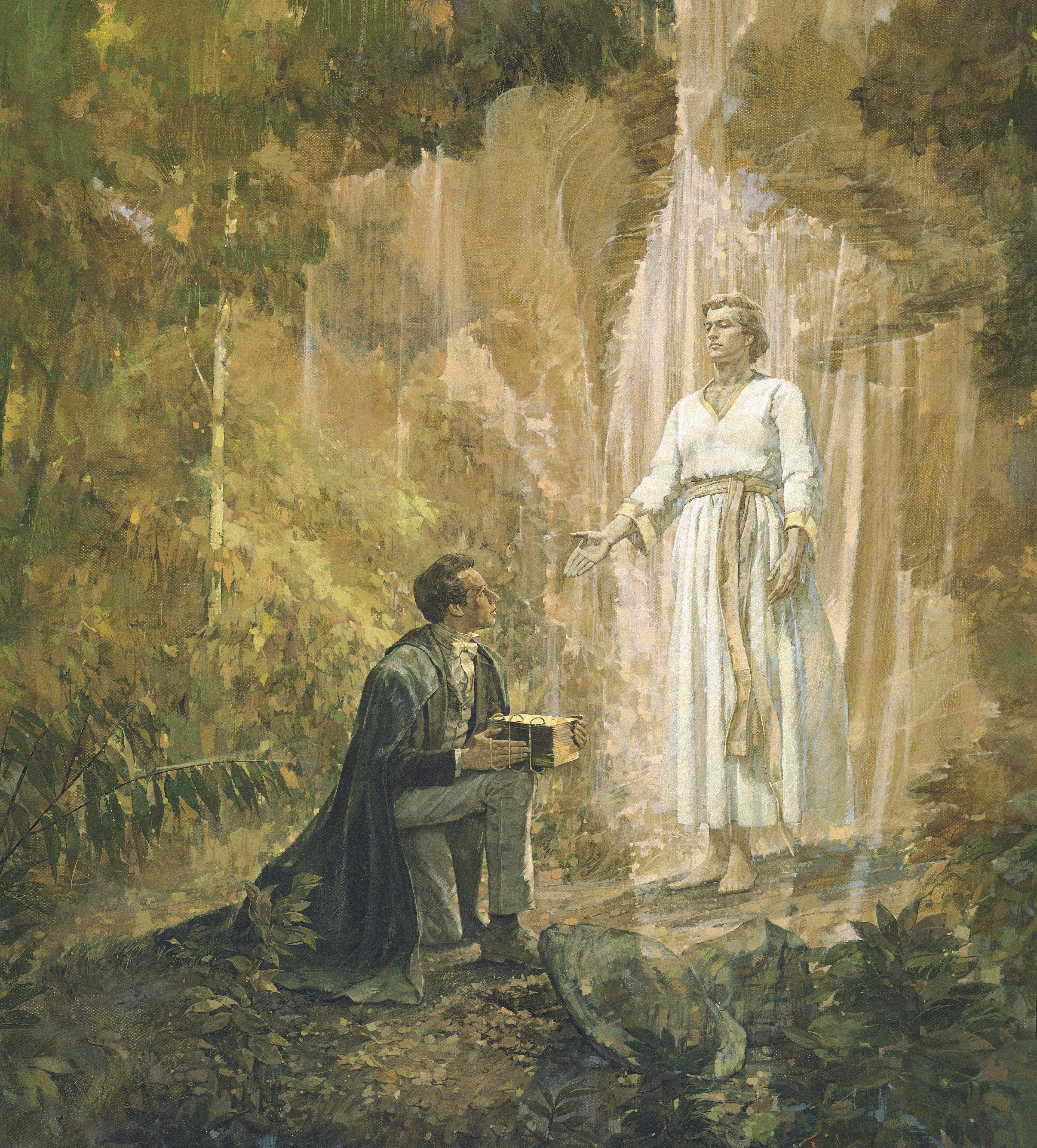 Joseph Smith Receives the Gold Plates, by Kenneth Riley (62012); GAK 406; Primary manual 3-33; Primary manual 4-03; Primary manual 5-11; Joseph Smith—History 1:47–59