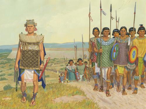 Helaman leading warriors