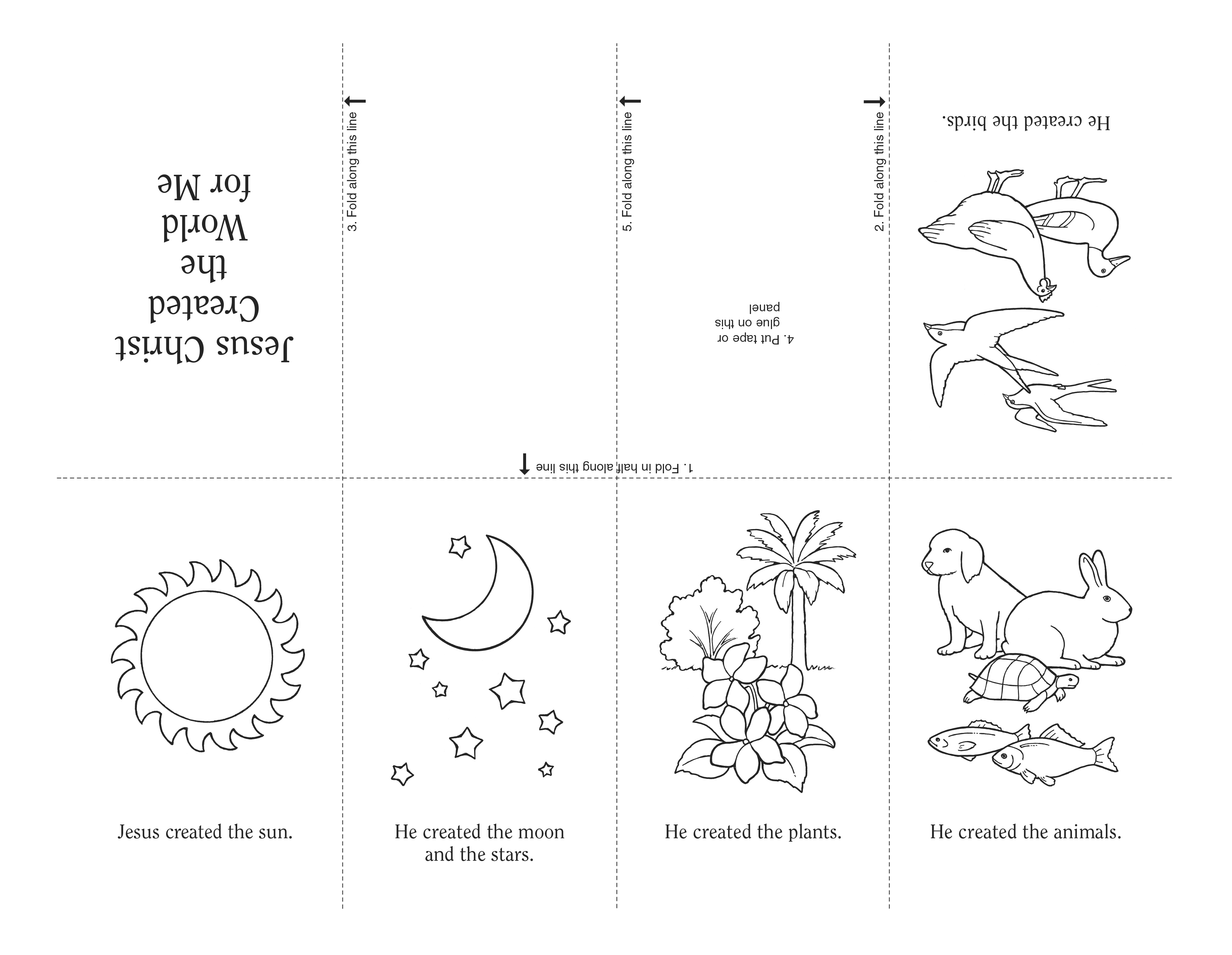 An illustration and activity from lesson 7, page 35 in the nursery manual Behold Your Little Ones (2008).