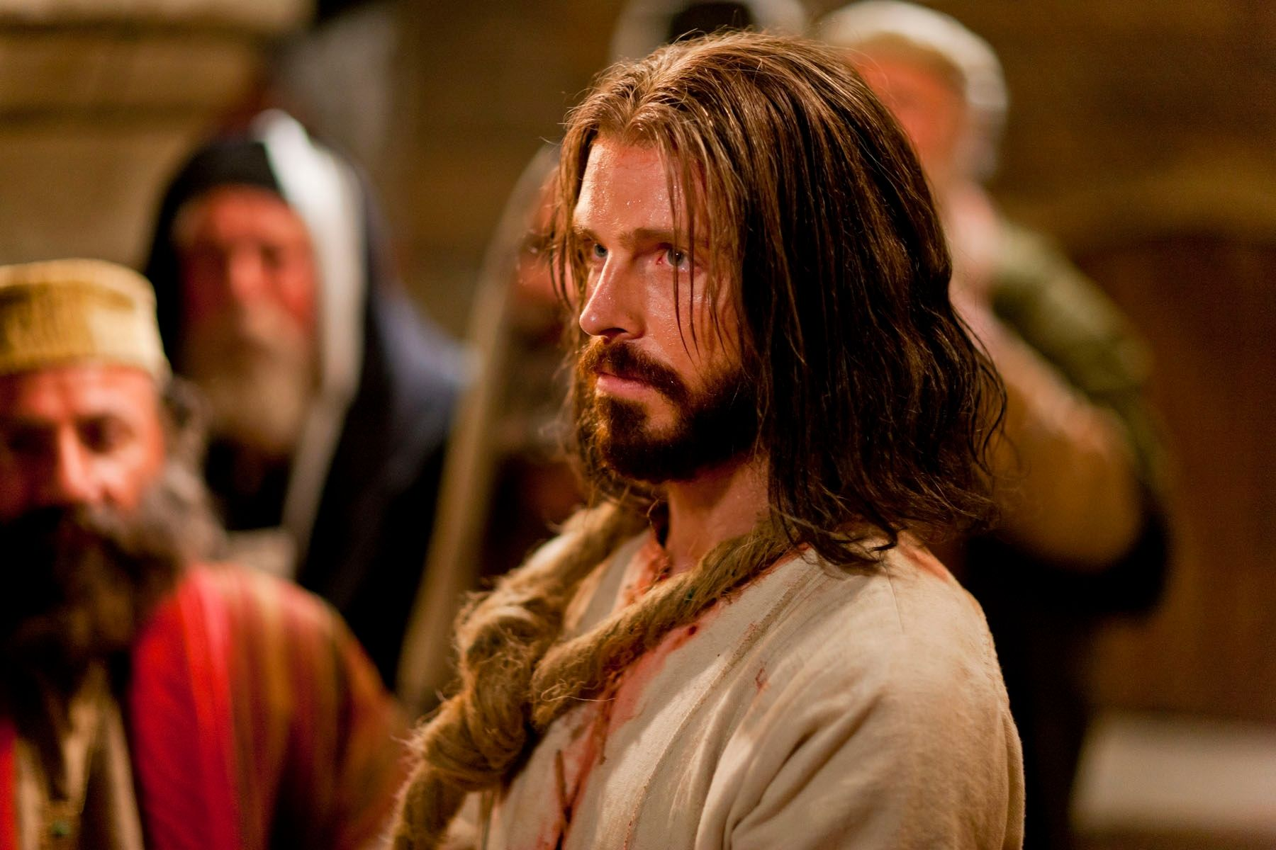 Christ is tried before Caiaphas.