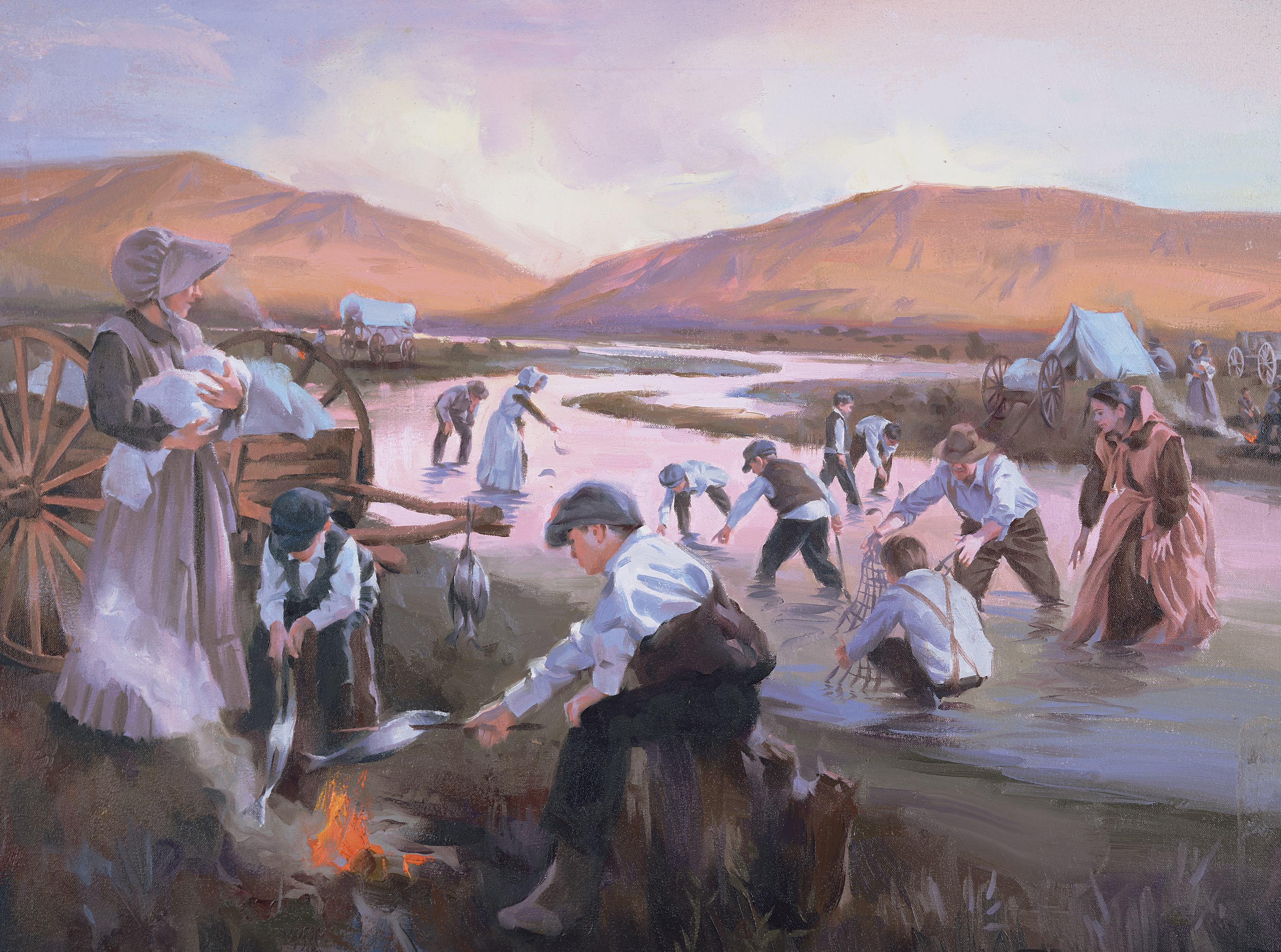 Pioneers Catching Fish, by Sam Lawlor
