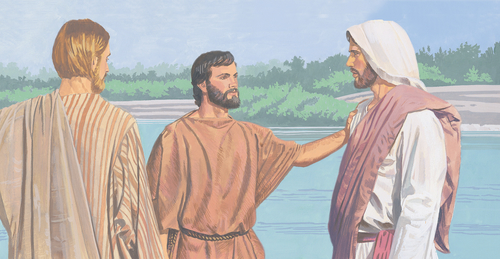 John the Baptist talking to Jesus