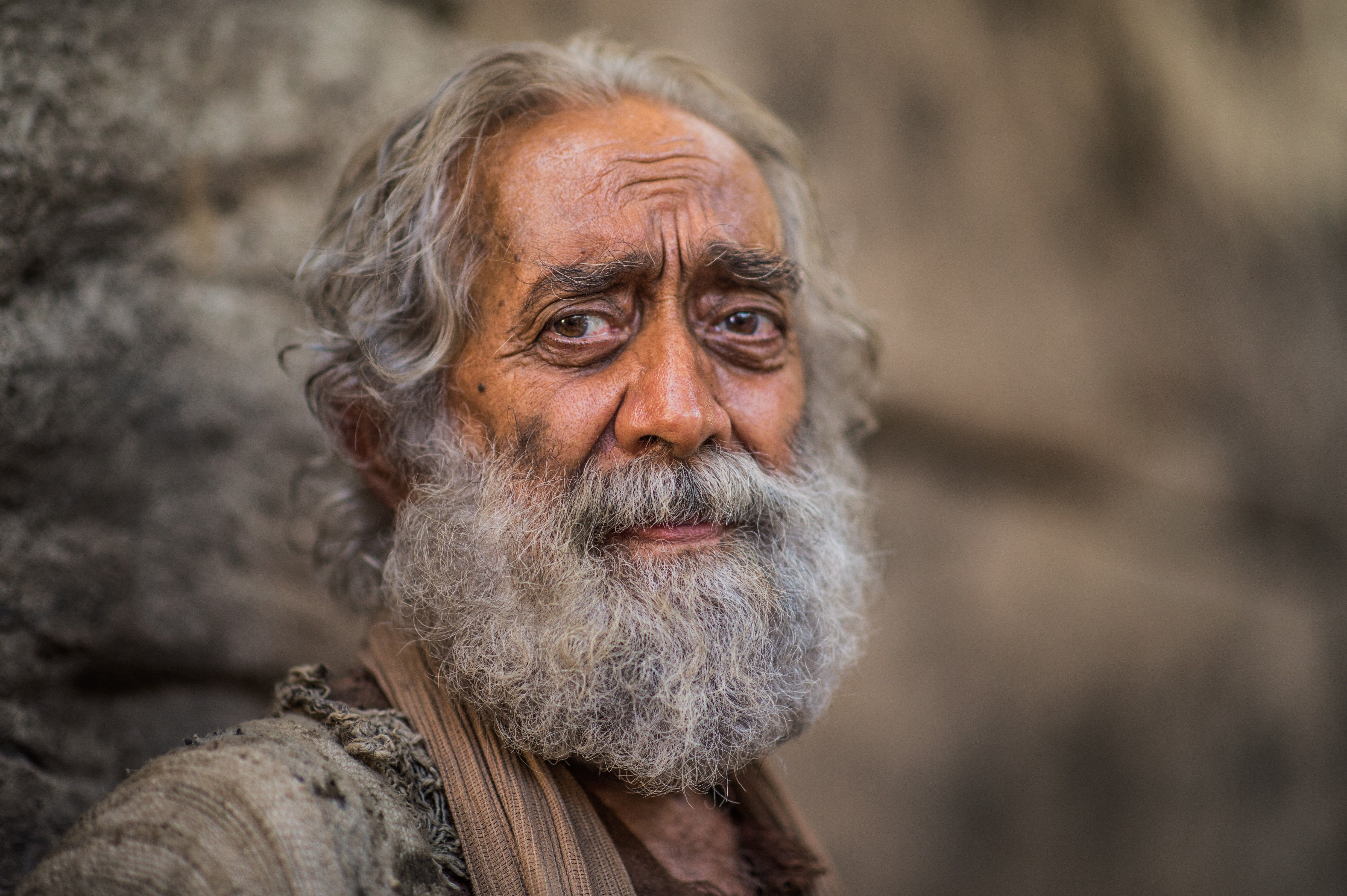 A portrait of the man healed by Jesus Christ at the pool of Bethesda.
