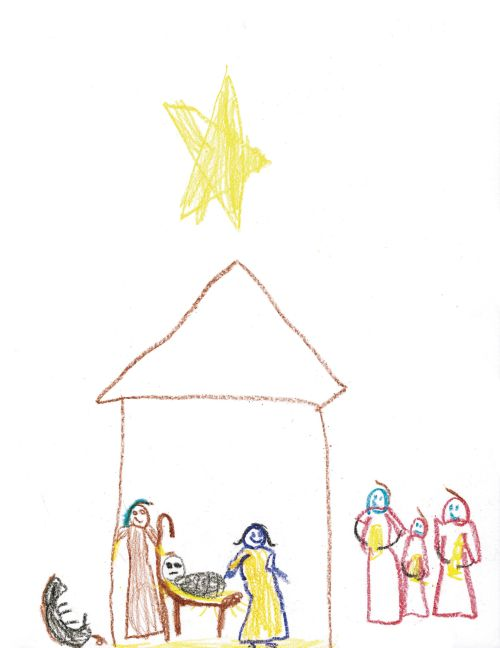 Nativity drawing