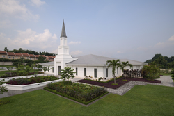 The Kinshasa Democratic Republic of the Congo Temple and grounds.