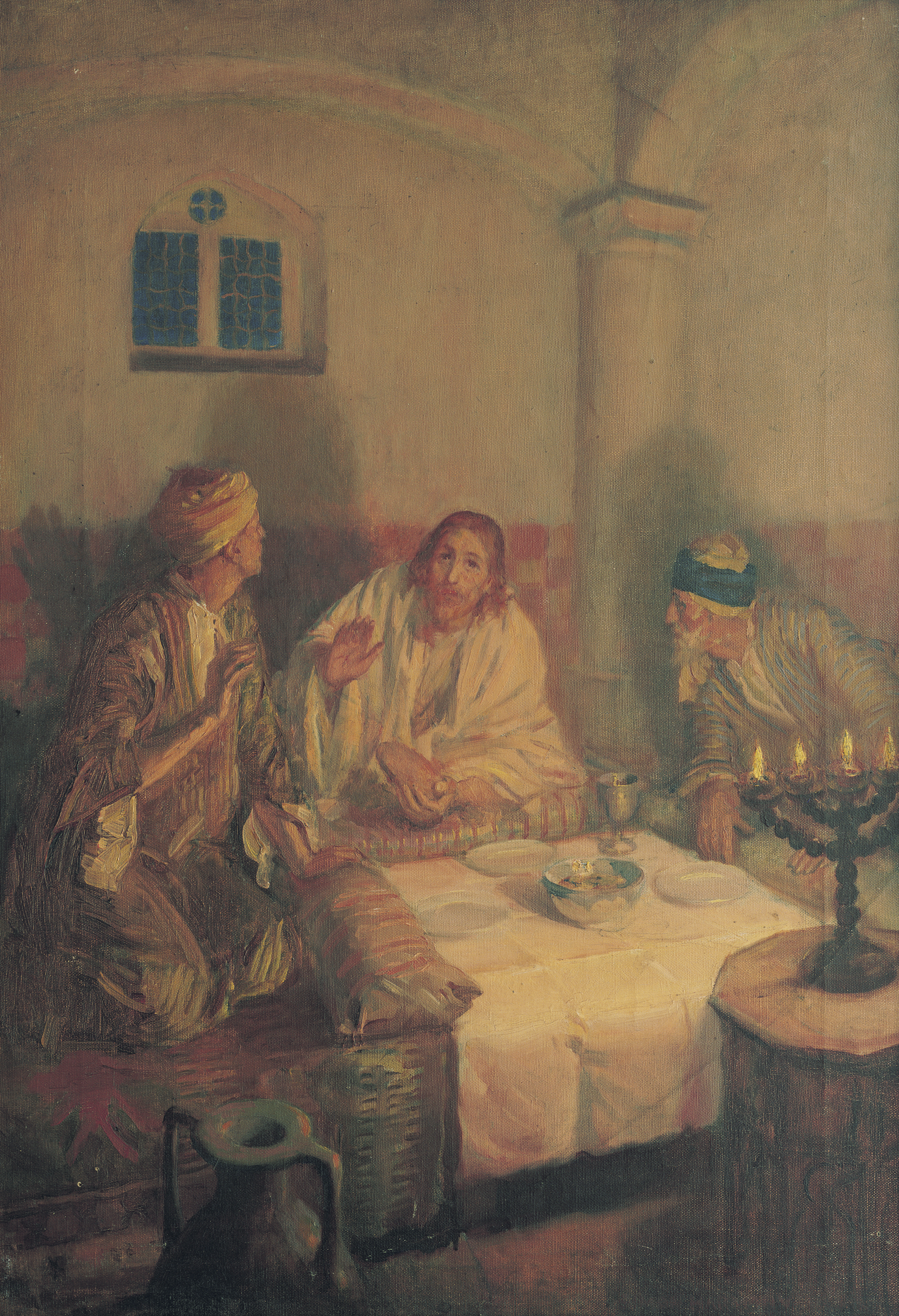 Supper at Emmaus, by Simon Harmon Vedder