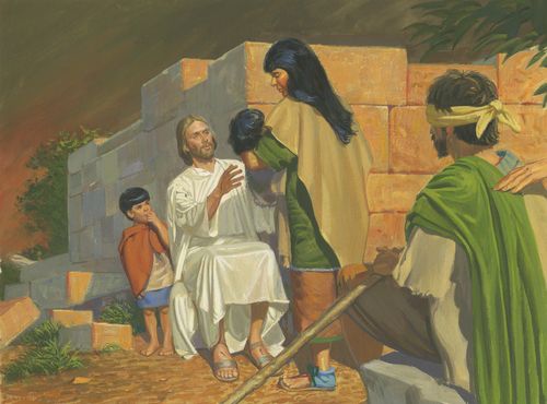 Jesus healing child