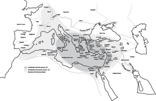 Map of Spread of Early Christianity